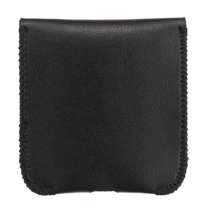9e788d6656 PU Cuir Mini Sac Case Housse Cover Manchette Pochette Pr Apple AirPods  Écouteur noir