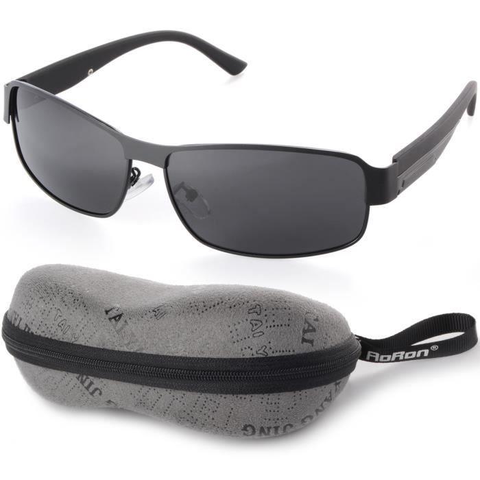 5977adcb795535 Aoron polarisée hommes lunettes de soleil Sports de plein air lunettes  conduite lunettes noires OS380-SZ