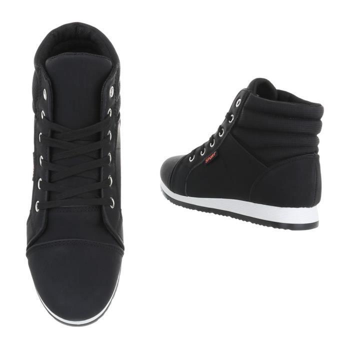 Chaussures 41 Sport Noir blanc Sneakers Femme Noir Hqfg4H