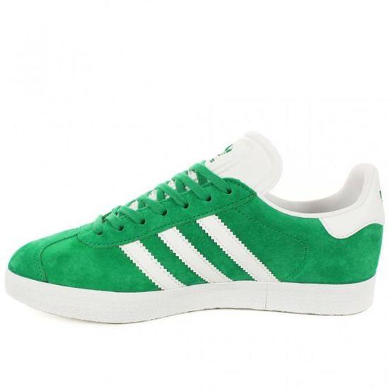 Chaussures Adidas Gazelle | Basket Vert basse à lacet - Vert Basket et Blanc Vert Vert - Achat / Vente basket 0f65a5
