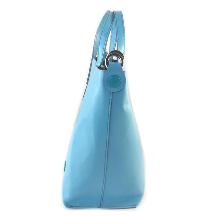 Sac cuir 2 en 1 Gabs bleu ciel (S) - 37x24x12 cm [P1534]
