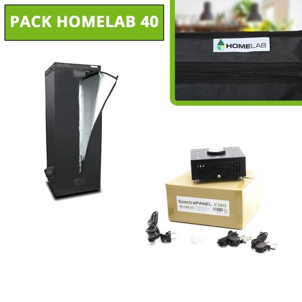 Pack HomeLAB - SpectraPANEL X160 - Chambre de culture - Lampe horticole LED  - Croissance et floraison - Culture indoor