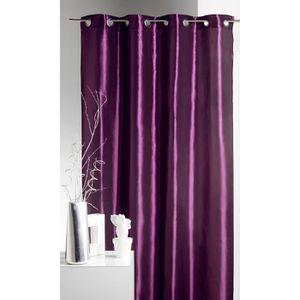 Rideaux violet achat vente rideaux violet pas cher cdiscount for Rideau prune