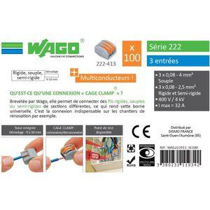 WAGO Seau 100 bornes - 222 - 3 entrées