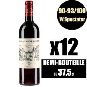 VIN ROUGE X12 Château Carbonnieux 2016 37,5 cl AOC Pessac-Lé