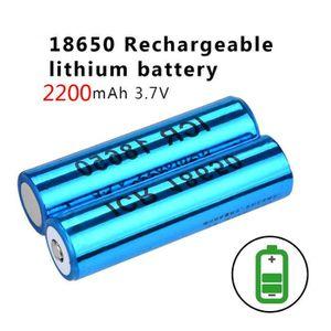LAMPE DE POCHE 18650 batteries 2200 heures-milliampère 3.7V torch
