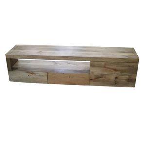 meuble tv meuble tv bois brut - Vente Meuble Tv Bois