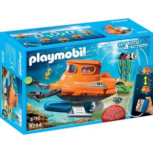 FIGURINE - PERSONNAGE PLAYMOBIL 9234 - Sports & Action - Sous-Marin avec