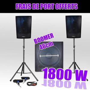 PACK SONO Pack 1810 Sonorisation 1800W Caisson bi-amplifié