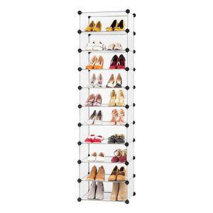 MEUBLE À CHAUSSURES LANGRIA 10-Cube Meuble à chaussures contemporain
