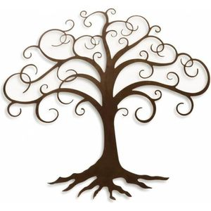 decoration murale metal arbre achat vente pas cher. Black Bedroom Furniture Sets. Home Design Ideas