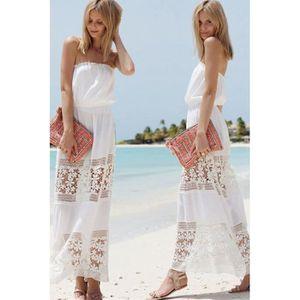 958e5616ece Robe longue de plage he Blanc Blanc - Achat   Vente robe de plage ...