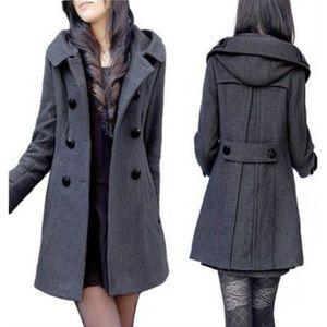 MANTEAU - CABAN Manteau long manteaux d hiver femmes veste Mélang 2005e086b20
