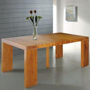 Table Console Extensible Natura En Bois Massif Achat Vente