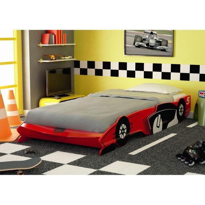 FAST Lit enfant voiture laqué rouge - l 90 x L 190-200 cm - Achat ...