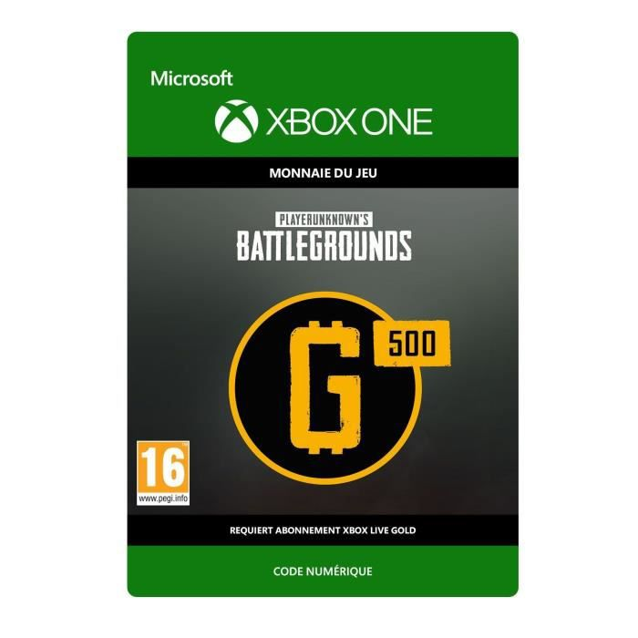 DLC PlayerUnknown's Battlegrounds : 500 G-Coin pour Xbox One