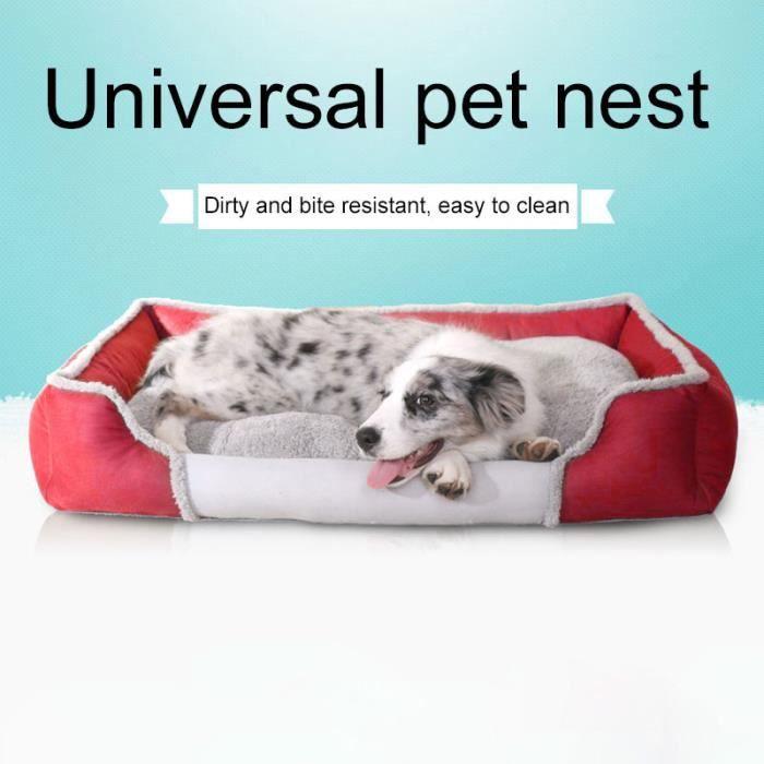 (rouge) Tapis Pour Chien Couleur Unie Fashion New Cute Pet Universel Nest Accueil Xl Code Taille: 84 X 62 17 Cm