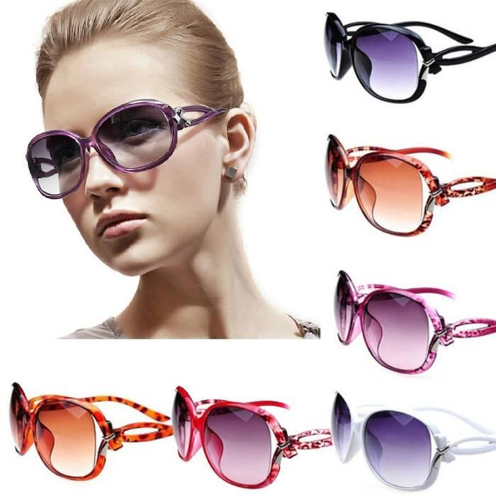 marque de mode à la mode dame Lun violet violetettes de soleil luxe mode dété Lunettes de soleil Outdoor Vintage femmes