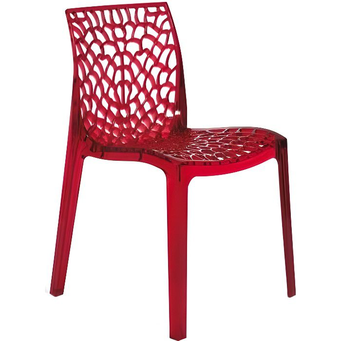 Chaise Rouge Transparente Gruyer