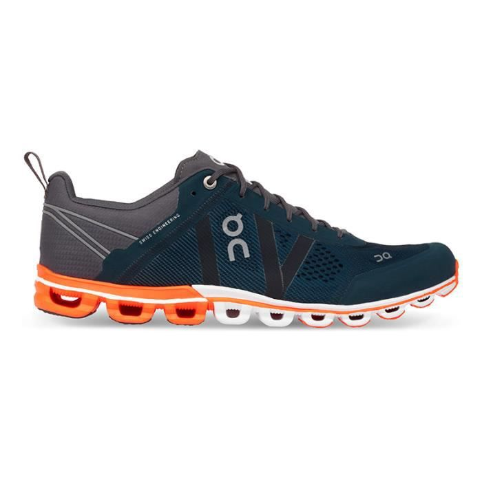 Chaussures On CloudfBasse gris orange