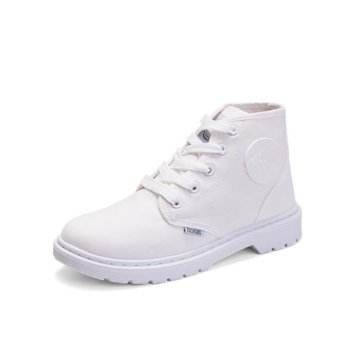 Bottes de dames chaussures de toile respirantes haute chaussures de dames Bottes de Martin