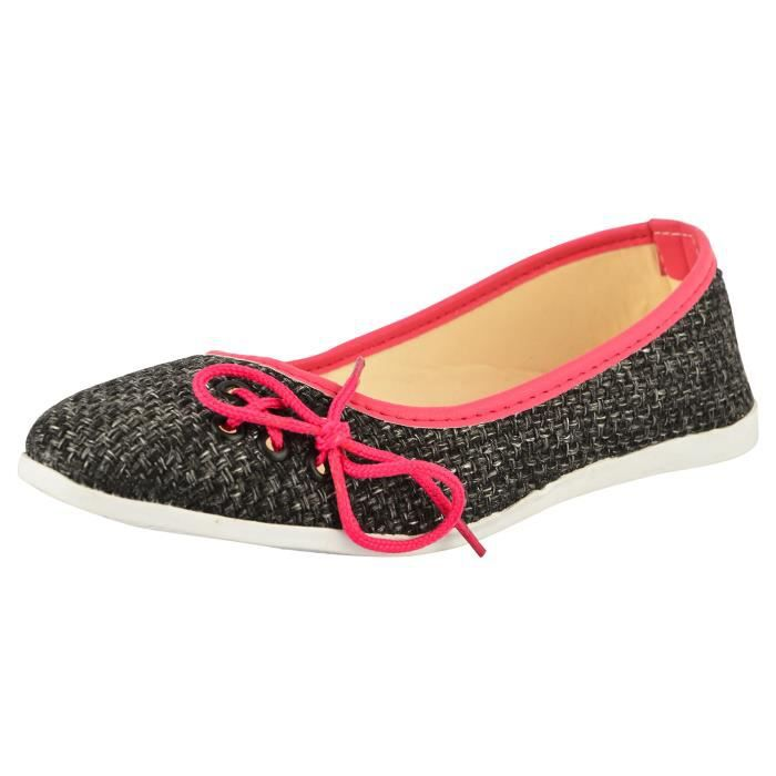 Easy21 Casual Flats Ballet Fashion Shoes Faux Leather MKR8M Taille-36 A4oODKo