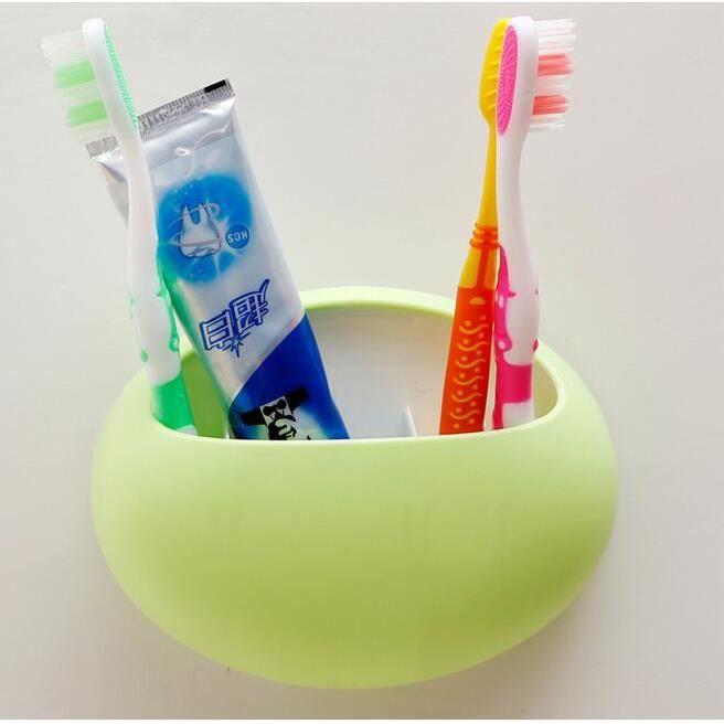 Porte support brosse dents dentifrice mural boite rangement toilettes ventouse vert achat - Porte brosse a dent mural ...