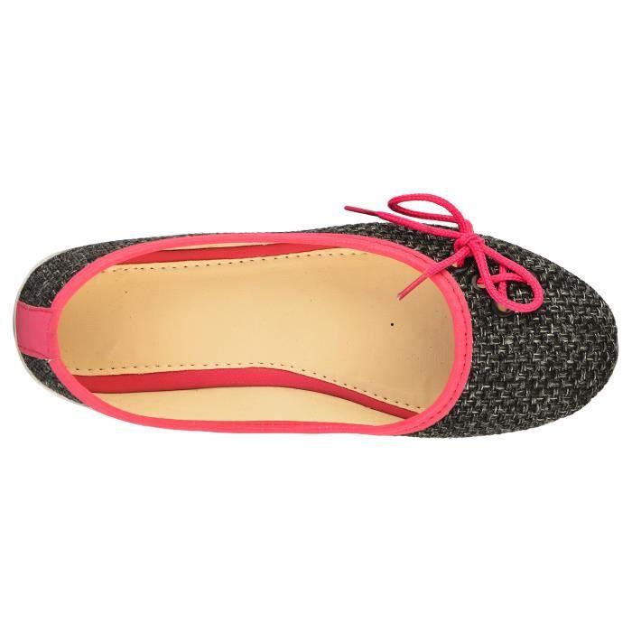 dentelle noire des femmes des ventres à la mode et des sandales pour et Y11QO Taille-38 vTc8A2