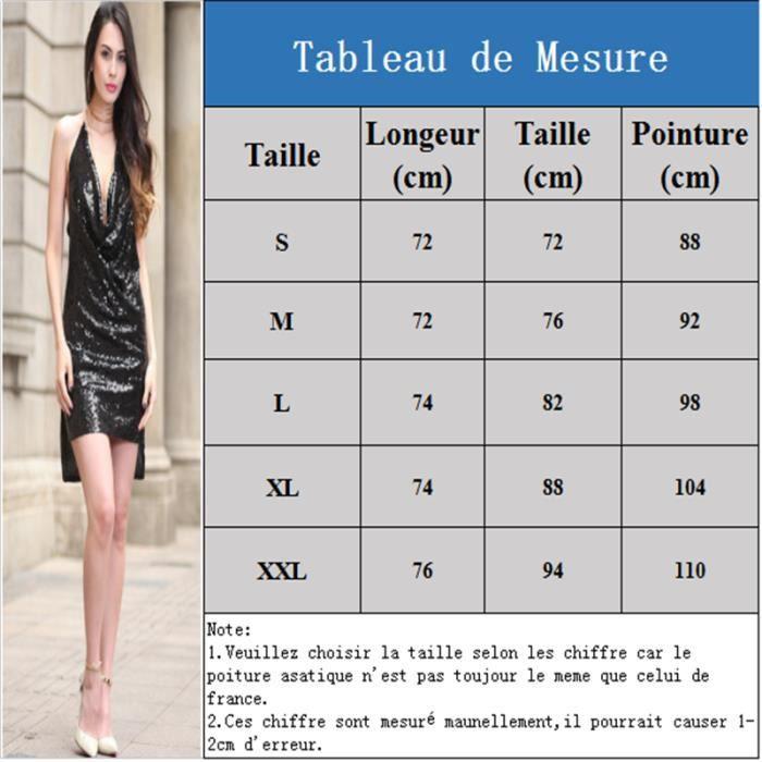 Robe Femme de Soirée Sexy Dos Nu grande taille à Paillettes robe enveloppante sans Manches