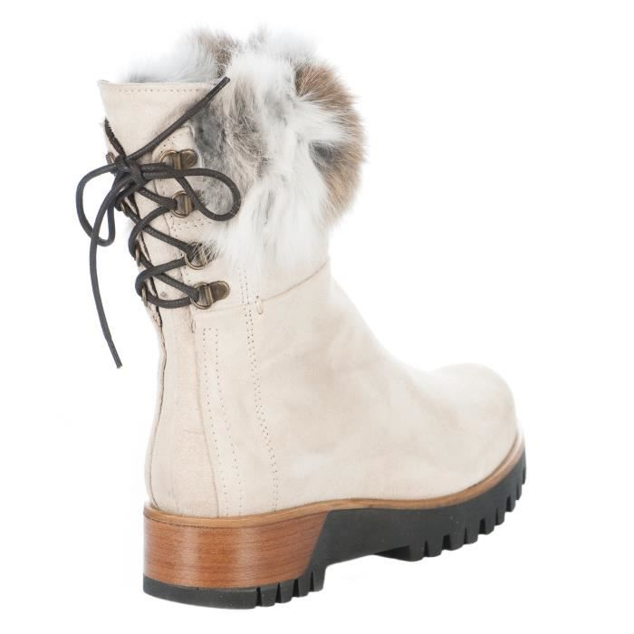 2204 E1X Boots femme creme Blanc femme Boots MANAS Y06axqa