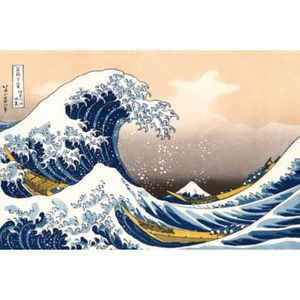 AFFICHE - POSTER Katsushika Hokusai Poster Reproduction - La Grande