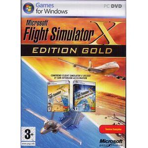 JEU PC Flight Simulator X Edition Gold Jeu PC