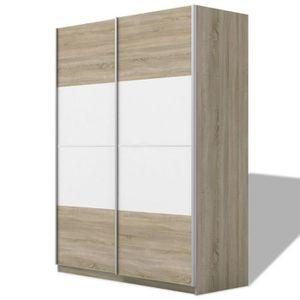 ARMOIRE DE CHAMBRE R140 Cette armoire moderne et elegante possede deu