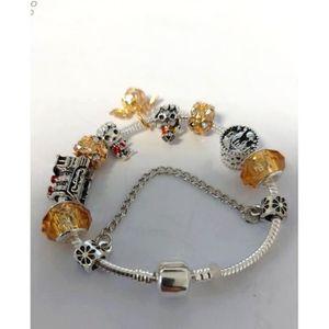 BRACELET - GOURMETTE Bracelet Souple Serpentine Charms Coeur 20 cm Cris