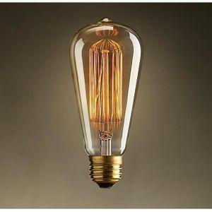 AMPOULE - LED Ampoule E27 ST64 Edison filament incandescente 40W