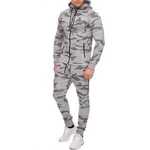 SURVÊTEMENT DE SPORT Ensemble survêtement camouflage gris zip