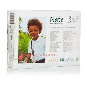 Naty Nature Babycare Taille 3 4 à 9 Kg 31 Couches Blanc Blanc