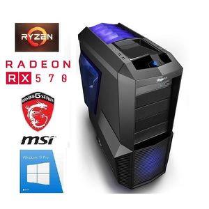 ORDINATEUR TOUT-EN-UN PC Gamer Ryzen 5 - RX 570 8GO - 16GO RAM - SSD 240