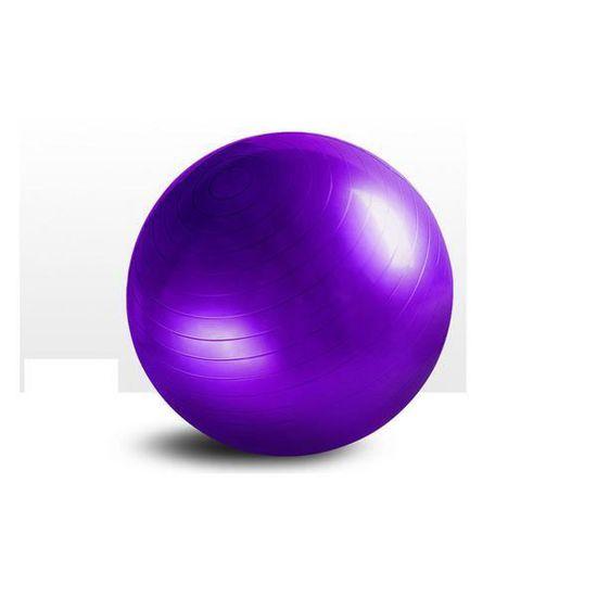 purple pvc épaississement anti-déflagrant yoga balle 55cm fitness