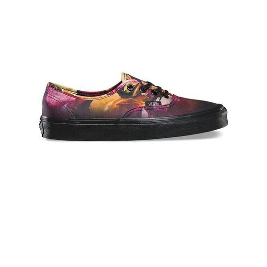 Chaussures Authentic Mono Flower W - Vans Noir Multicolore - Achat / Vente basket