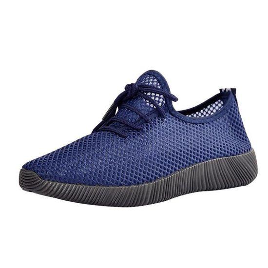 Femmes Dames Automne Chaussures Cheville Solide Roman Martin Bottes Courtes Chaussures Simple@vert Bleu Bleu - Achat / Vente botte
