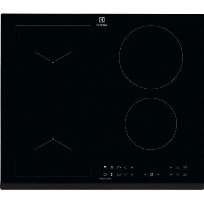ELECTROLUX LIV6343 - Table de cuisson - 4 foyers - 7350W - Revêtement verre - Noir