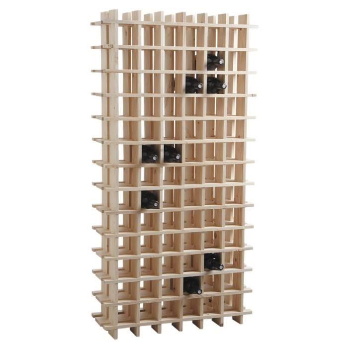 tag re vin en bois rangement 78 bouteilles achat vente porte bouteille tag re vin en. Black Bedroom Furniture Sets. Home Design Ideas
