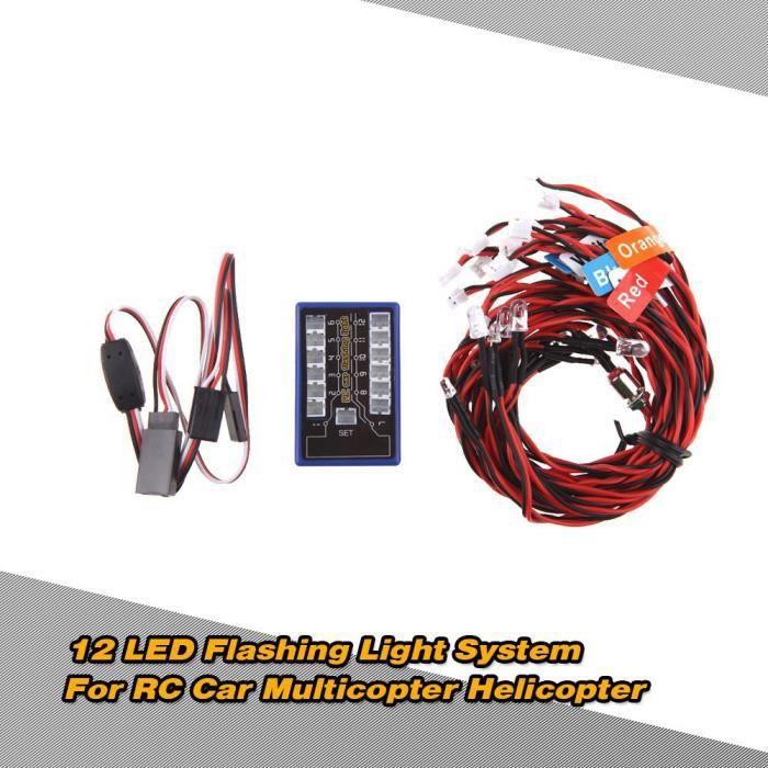 06 Clignotant Système 1 Lampe Led De Pour À 10 Hsp Kit Accessoire Scx10 Phare 8 Rc sdQtChr