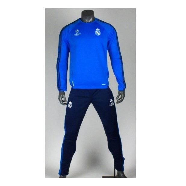 b6e8e907283 Survêtement Real Madrid Training Ligue des Champions 2015 2016 Bleu ...