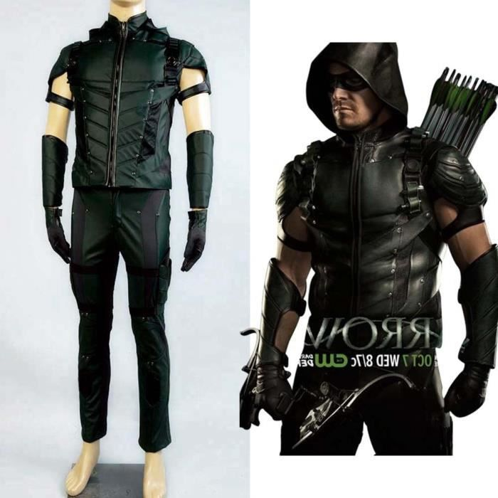 Green Costume Homme Cosplay Arrow 4 Déguisement 29IDWEHeY