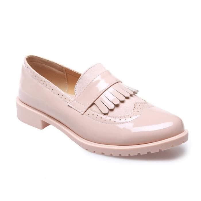 La Modeuse - Mocassinsen PU vernis et présence de simili daim à l'avant de la chaussure bkkEoy