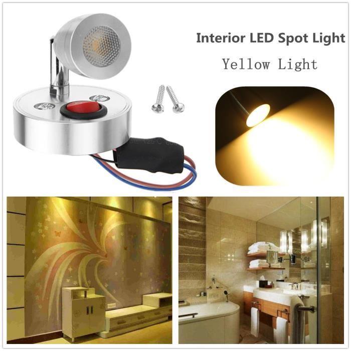 NEUFU 12V 3W Spot LED Intérieur Interrupteur de Lecture Pour Camper ...