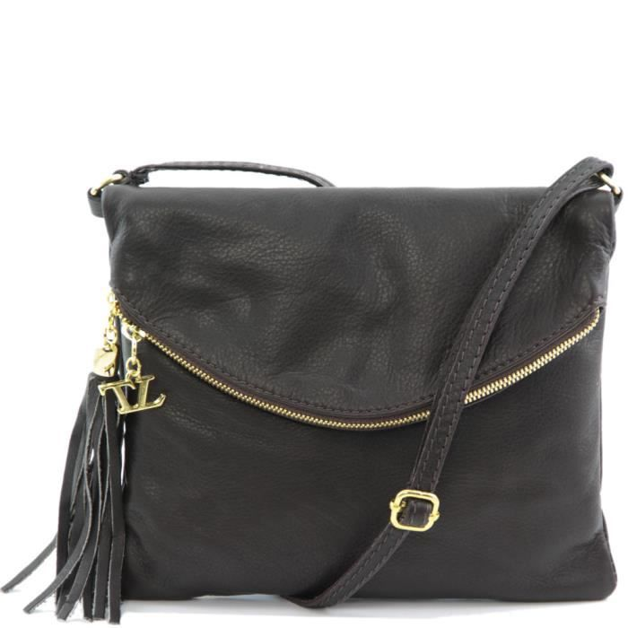 Tuscany Leather - Sac porté épaule cuir - Marro…