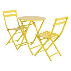 Table de jardin jaune - Achat / Vente Table de jardin jaune pas cher ...